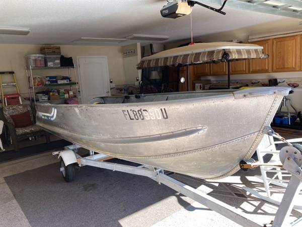 Photo 14 Ft. Deep V Aluminum Boat and Trailer - $850 (Umatilla)