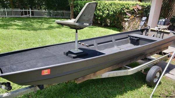 Photo 14ft Jon Boat  Trailer - wTitle and 3.5hp Motor - $1,700 (Ocala)
