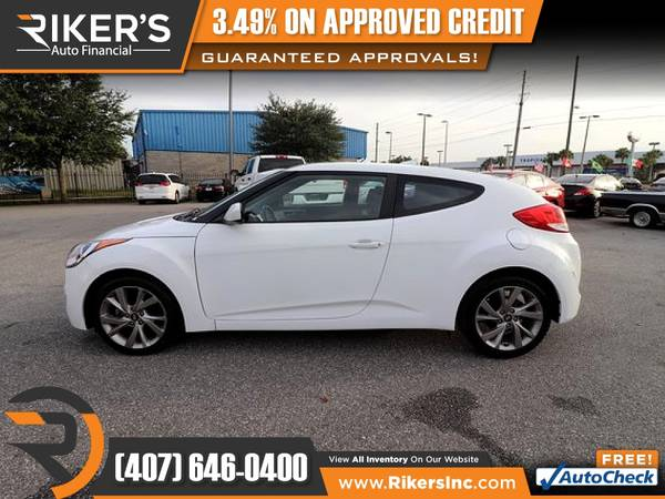 Photo $174mo - 2017 Hyundai Veloster Base - 100 Approved - $174 (Rikers Auto Financial)