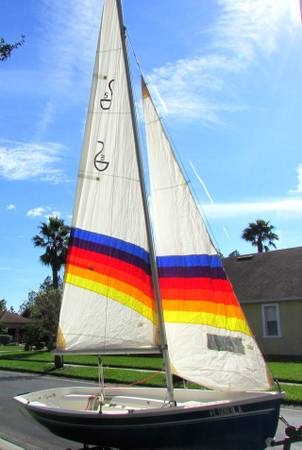 Photo 1984 Spindrift sailboat with 2hp motor on a new trailer - $2,800 (Ocala)