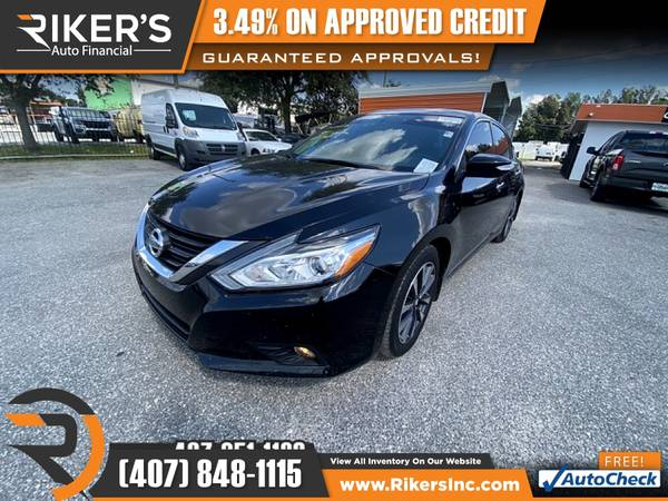 Photo $206mo - 2016 Nissan Altima 2.5 SL - 100 Approved - $206 (Rikers Auto Financial)