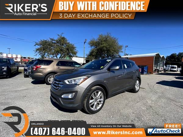 Photo $225mo - 2016 Hyundai Santa Fe Sport - 100 Approved - $225 (7202 E Colonial Dr, Orlando FL, 32807)