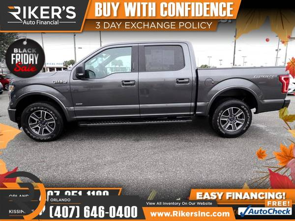 Photo $398mo - 2017 Ford F150 F 150 F-150 XLT - 100 Approved - $398 (7202 E Colonial Dr, Orlando FL, 32807)