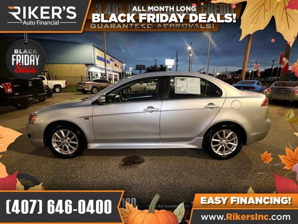 Photo $99mo - 2015 Mitsubishi Lancer ES - 100 Approved - $99 (Rikers Auto Financial)