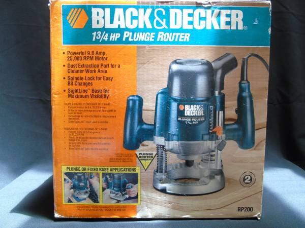 Photo Black and Decker 1-34 HP Plunge Router RP200, NIB - $100 (Crystal River)