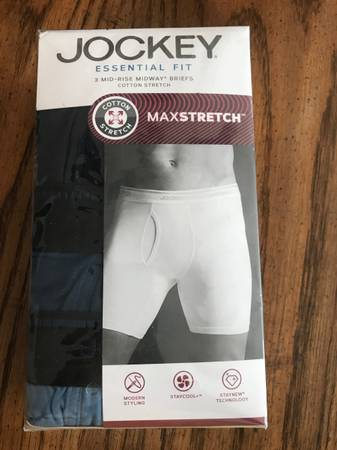Photo Brand new Jockey essential fit mid rise Midway briefs, size medium - $6 (Summerfield)