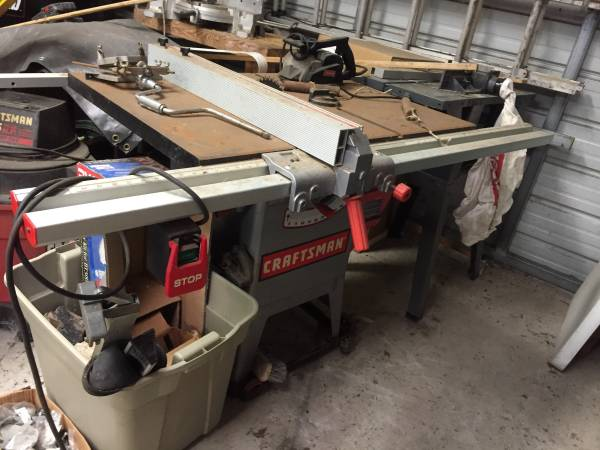 Photo Craftsman 10 HEAVY DUTY table saw, 1.5 HP - $375 (Inverness)