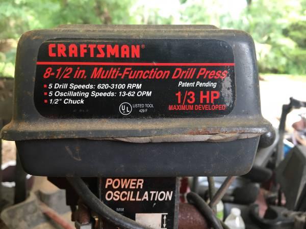 Photo Craftsman drill press - $70 (Fort mccoy)