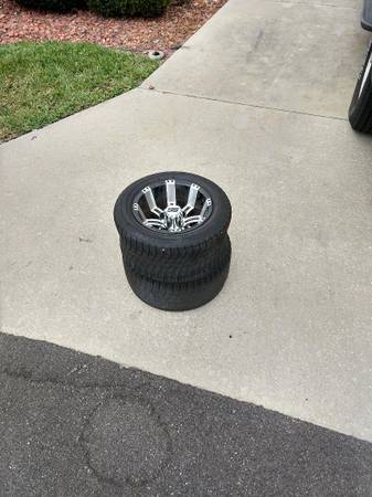 Photo Free golf cart wheels (with flat tires still attached) (The Villages)