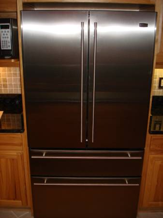 Photo GE MONOGRAM Counter Depth Refrigerator Ret $4000 sell $250 French Drs - $250 (Summerfield)
