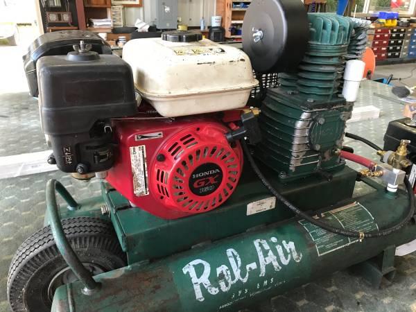 Photo Rolair  Honda gas powered quotwheelbarrowquot air compressor - $500 (Lecanto)