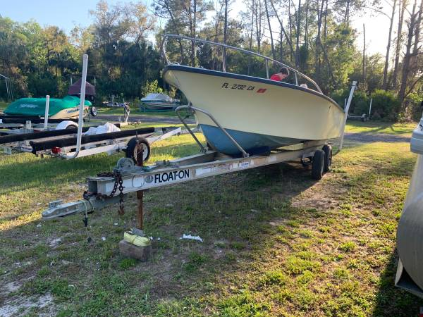 Photo Trade or Forsale 21 Continental Boat with Evinrude 200 hp outboard motor - $5,000 (Homosassa)