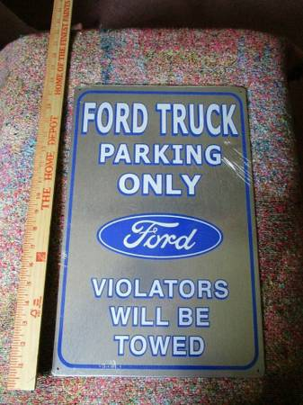 Photo tin signs ford parking - $12 (belleview florida 34420)