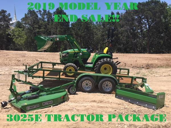 Photo 2019 CLOSEOUT JOHN DEERE 3025E PACKAGE - $21999 (Call Nate (830)955-7124)