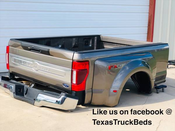 Photo 2020 KING RANCH FORD F-350 F-450 DUALLY TRUCK BED WITH STEP TAILGATE - $3,500 (RED OAK)