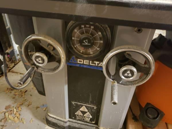 Photo 5 hp delta tablesaw - $2,500 (Midland)