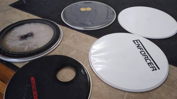 Photo Bass drum heads - $10 (Twin Falls)