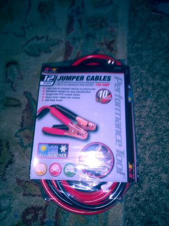 Photo Brand new 12 ft jumper cable still in package - $12 (Idaho falls)