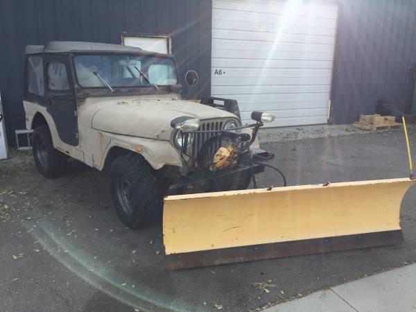 Photo CJ5 Jeep with Meyers Plow - $3,500 (Ogden)