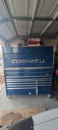 Photo Cornwell 58quot tool box with hutch - $3,900 (Las Vegas)