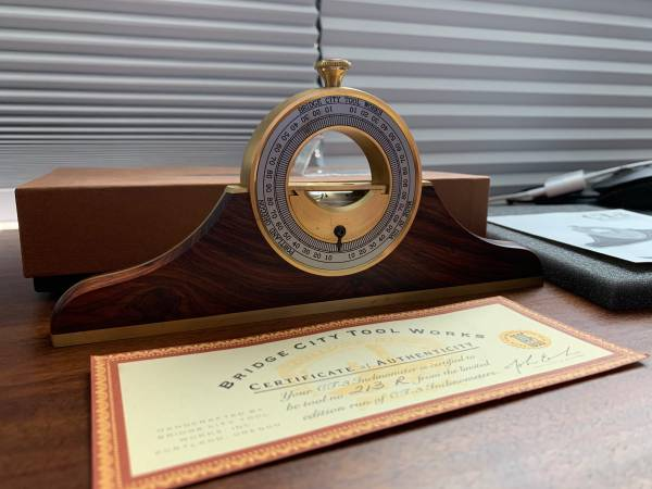 Photo GORGEOUS Bridge City Tool Works Rosewood CT-3 Inclinometer - 213-R - $280 (Centerville)