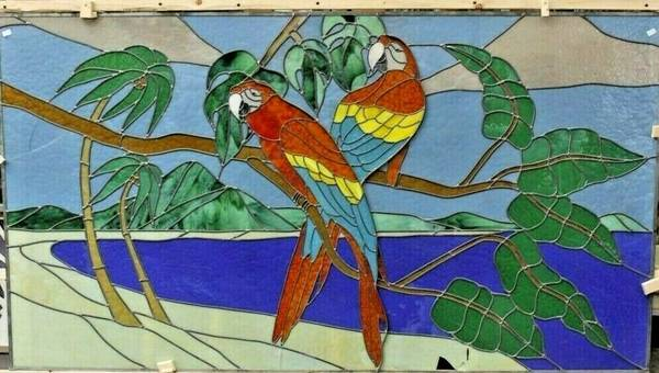 Photo Huge Stained Glass Window - Parrot Tropical Theme - $399 (Twin Falls)