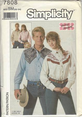 Simplicity pattern 7808 vintage 1986 small medium and large - $16 (Filer, ID)