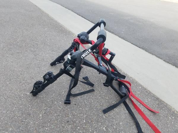 Photo THULE 3 bike rack (ANY VEHICLE) - $80 (Roy, utah)