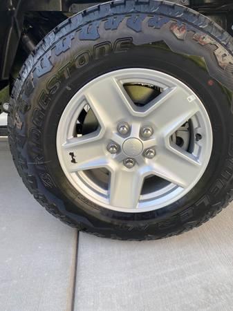 Photo new 17 Inch Jeep Wheels with Bridgestone tires - $350 (Layton)