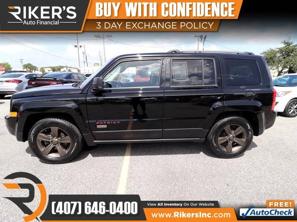 Photo $104mo - 2016 Jeep Patriot Sport - 100 Approved - $104 (Rikers Auto Financial)