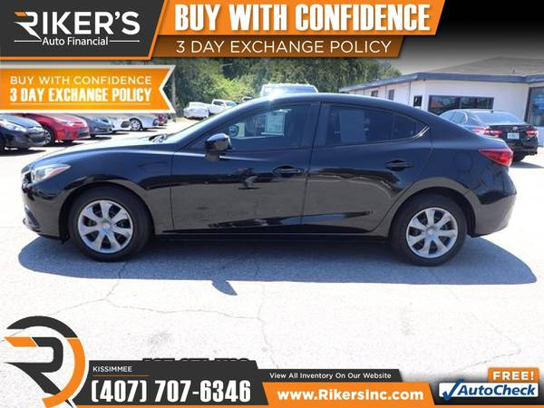 Photo $166mo - 2015 Mazda Mazda3 Mazda 3 Mazda-3 i SV - 100 Approved - $166 (2776 N Orange Blossom Trail, Kissimmee FL, 3474)