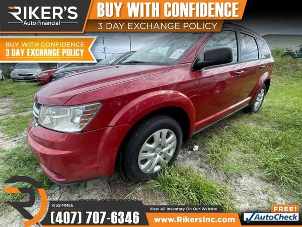 Photo $172mo - 2016 Dodge Journey SE - 100 Approved - $172 (2776 N Orange Blossom Trail, Kissimmee FL, 3474)