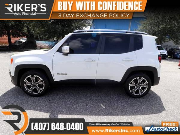 Photo $177mo - 2016 Jeep Renegade Limited - 100 Approved - $177 (Rikers Auto Financial)