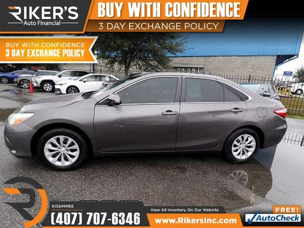 Photo $192mo - 2015 Toyota Camry LE - 100 Approved - $192 (2776 N Orange Blossom Trail, Kissimmee FL, 3474)