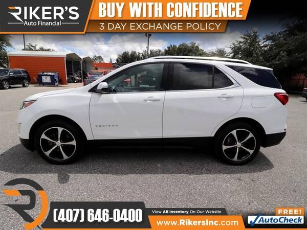 Photo $199mo - 2018 Chevrolet Equinox LT 2LT 2 LT 2-LT - 100 Approved - $199 (Rikers Auto Financial)