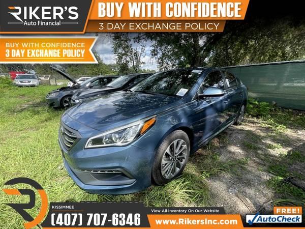 Photo $212mo - 2017 Hyundai Sonata Sport - 100 Approved - $212 (2776 N Orange Blossom Trail, Kissimmee FL, 3474)