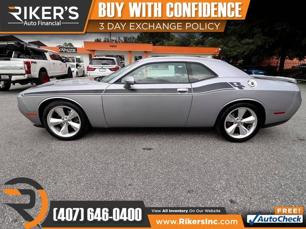 Photo $273mo - 2016 Dodge Challenger RT Plus - 100 Approved - $273 (Rikers Auto Financial)