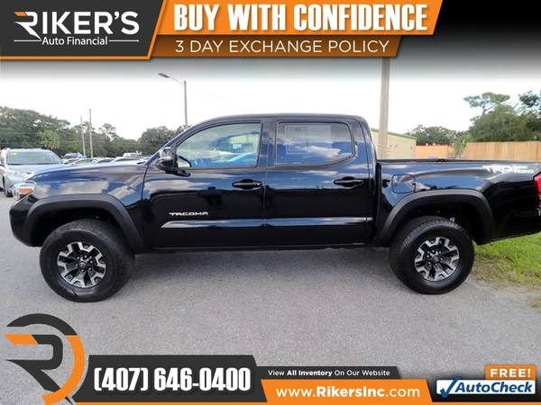 Photo $348mo - 2016 Toyota Tacoma TRD Offroad Crew Cab - 100 Approved - $348 (Rikers Auto Financial)