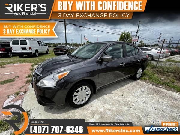 Photo $99mo - 2015 Nissan Versa S - 100 Approved - $99 (2776 N Orange Blossom Trail, Kissimmee FL, 3474)