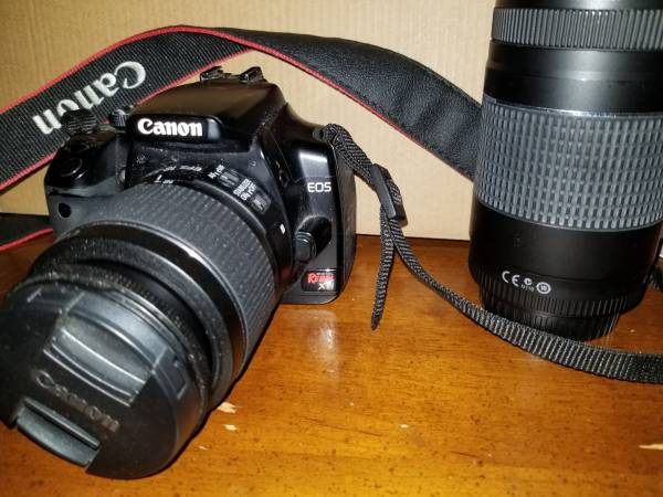 Photo Canon Rebel XTi DSLR Camera wEFS 18-55mm Lens and Canon EF 75-300mm L - $200 (Navarre)