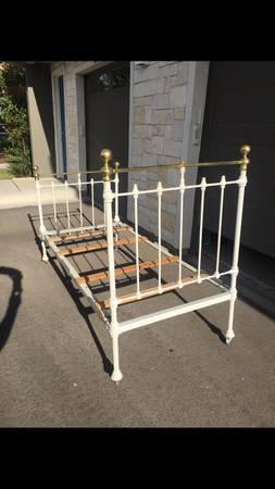 Photo Circa 1800s Antique Brass  Iron Bed - $550 (Destin)