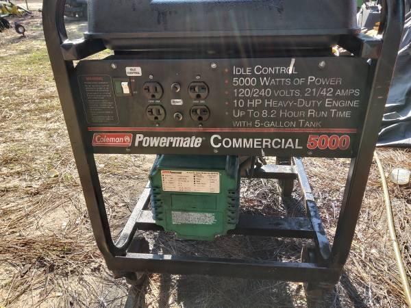 Photo Coleman Powermate Commercial Generator 5000 - $175 (Crestview)