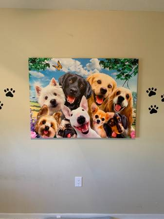 Photo Dog picture on canvas - $100 (Shalimar)