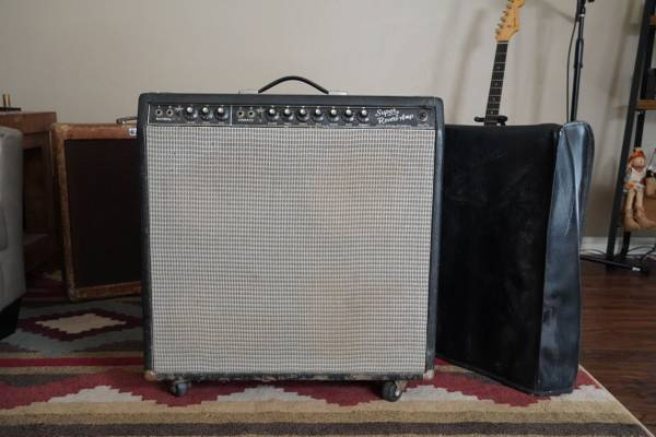 Photo 1965 Fender Super Reverb with Original Cover  New Tubes PROJECT - $950 (Edmond)