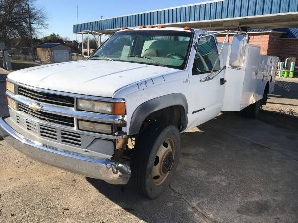 Photo 1995 Chevy 1 Ton Long WB (1139) with utility boxes and 6.5 Diesel - $3450 (Ardmore, Ok)