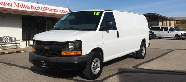 Photo 2013 Chevrolet Express 3500 1-Ton 155WB EXTENDED Cargo Van 26k miles - $23,775 (705 N. Villa Ave OKC)