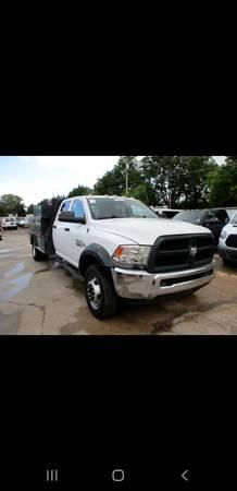 Photo 2014 Dodge Ram 5500 4 Doors Diesel Flat Bed Dually - $24,995 (Pauls Valley)