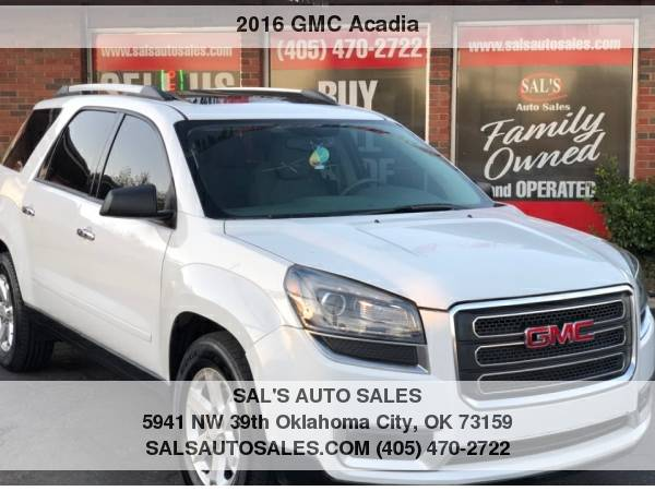 Photo 2016 GMC Acadia AWD 4dr SLE wSLE-2  Best Deals on Cash Cars  - $14998 (OKC)