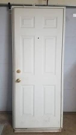Photo 32quot White Exterior 6 panel Steel Door - $100 (Moore)
