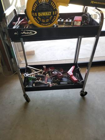 Photo Blue point roll around toolcart. Cart only rolls good - $100 (Choctaw)